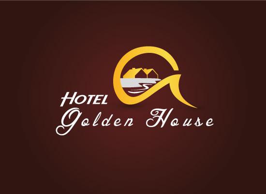 Hotel golden house logo design bela graphic for Design lago
