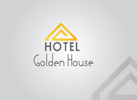 Hotel Golden House Logo Design Bela Graphic