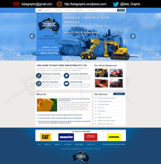 East-West-Industries-Website-Design