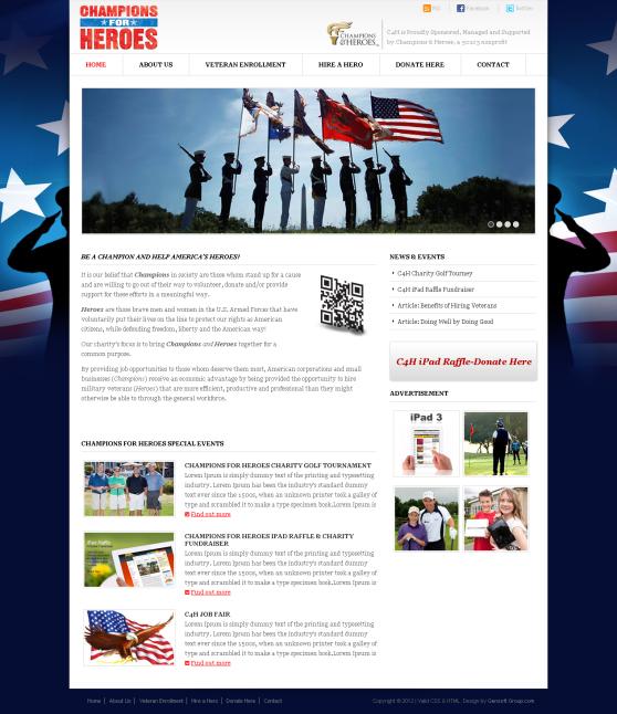 Champions Heroes Website Design